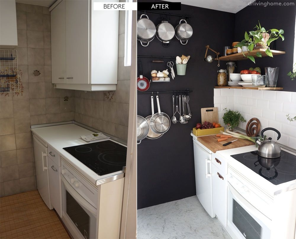 diy small kitchen remodel before and after our kitchen