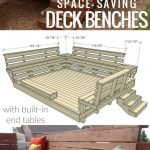 diy space saving deck benches with built in tables building