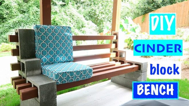 diyeasy urban chic cinder block bench