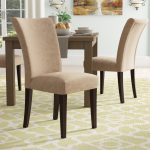 doerr linen upholstered dining chair in light brown