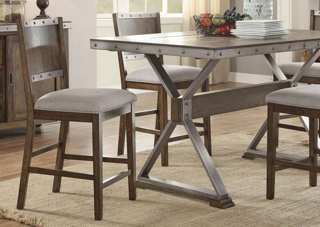 doran industrial style counter height table set industrial