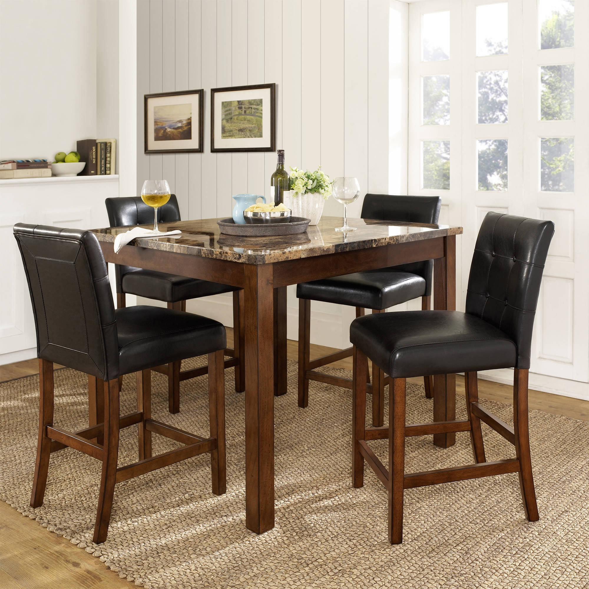 dorel living andover 5 piece counter height dining set multiple colors walmart