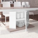 dorinda white and cappuccino extendable dining table 160 256cm