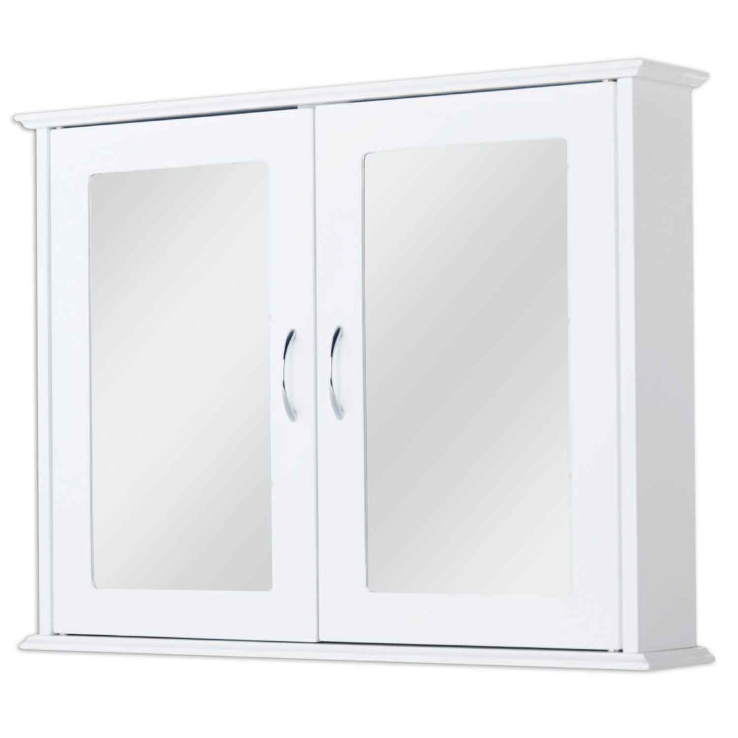 double mirrored bathroom cabinet