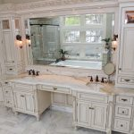 double sink vanities with makeup area master bathroom