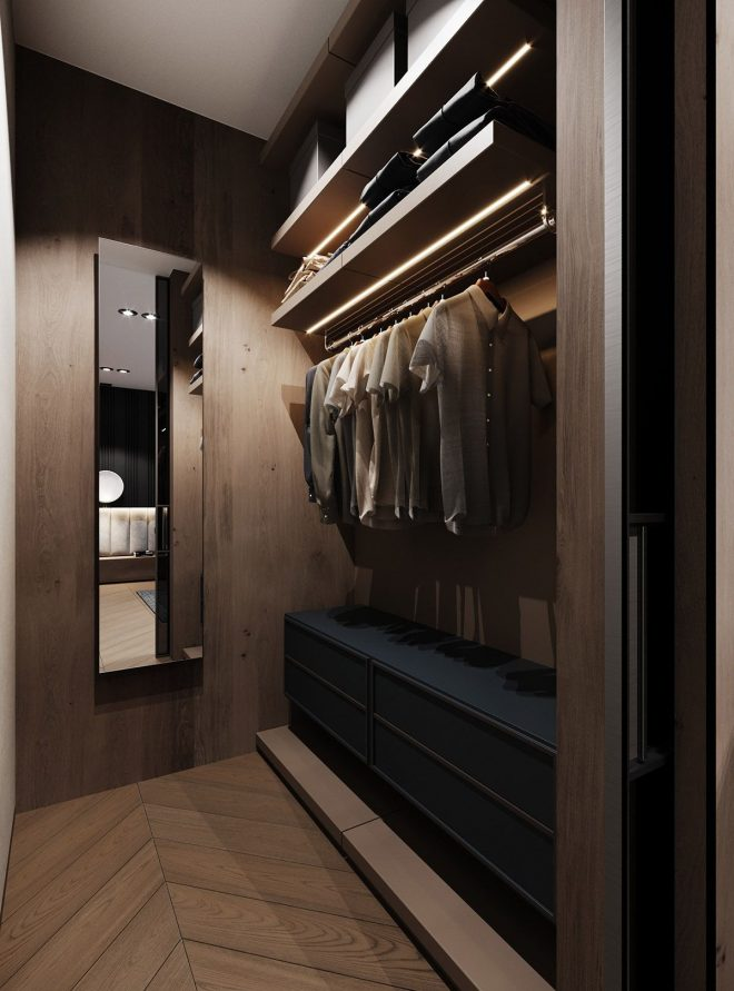 dramatic interior with luxury closets bathrooms luxury