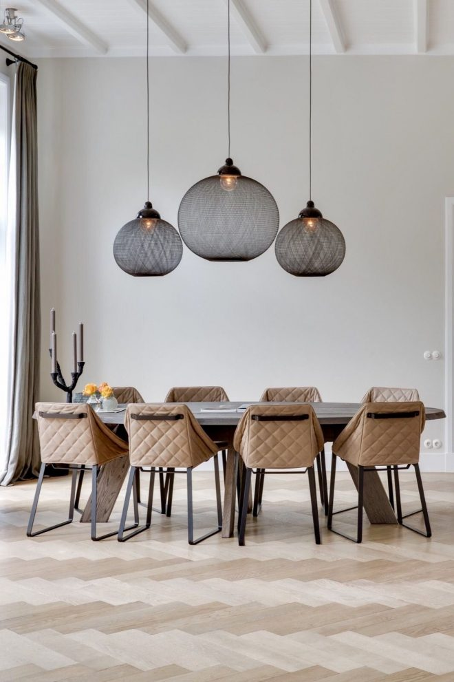 dramatic pendant lights great with a full height ceiling