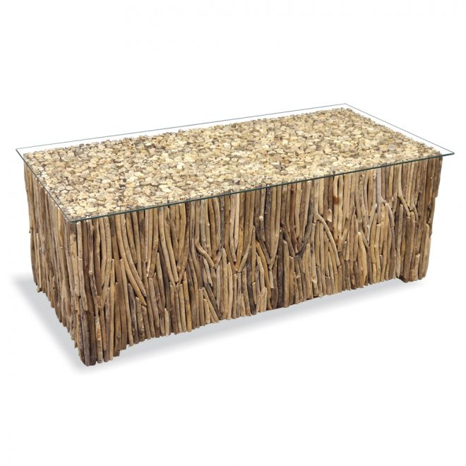 driftwood rectangle coffee table driftwood furniture