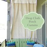 drop cloth porch curtains porch curtains outdoor curtains