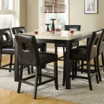 drop dead gorgeous tall dining room table set and pad modern black