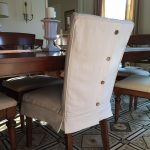 dropcloth slipcovers for leather parsons chairs dining