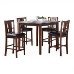 durant casual modern 5 piece counter height dining table 4 chairs in espresso