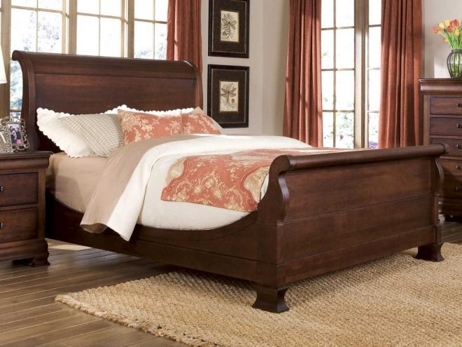 durham furniture vineyard creek king master sleigh bed in antique rye 112 149