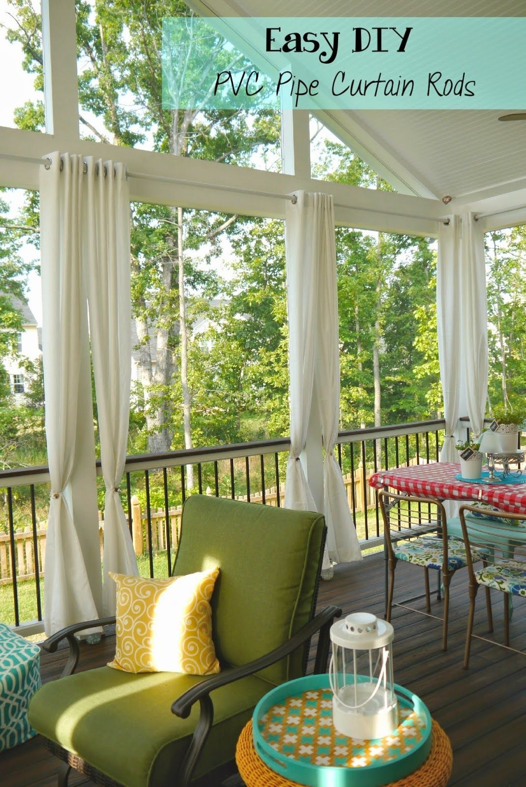 easy and cheap diy pvc pipe curtain rods outdoor curtain rods diy