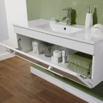 eden 1000mm gloss white wall hung vanity unit with milimalist basin