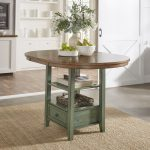 eleanor solid wood oval extendable counter height pedestal