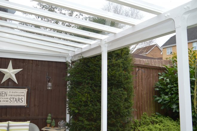 elegance glass roof canopy 25m projection