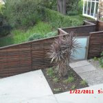 elegant front yard privacy fence quick wood color and slat