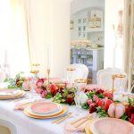 elegant pink and gold thanksgiving table randi garrett design