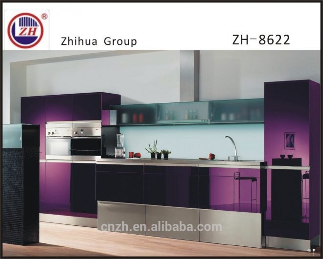 elegant purple color kitchen cabinet furniture with tall basket frosted glass door wall cabinet buy elegant kitchen cabinetmodern purple color