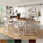elena antique white extendable counter height dining set napoleon back inspire q classic