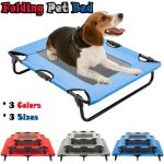 elevated pet bed dog cat cot portable raised camping pet cozy lounger sleeper