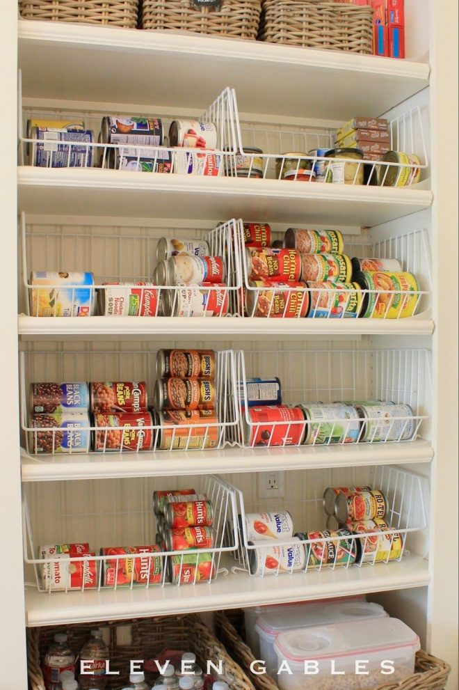 eleven gables butlers pantry canned food organization diy home