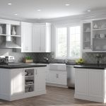 elgin wall cabinets in white kitchen the home depot