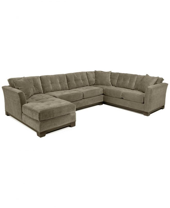 elliot 3 pc microfiber sectional with sleeper sofa chaise
