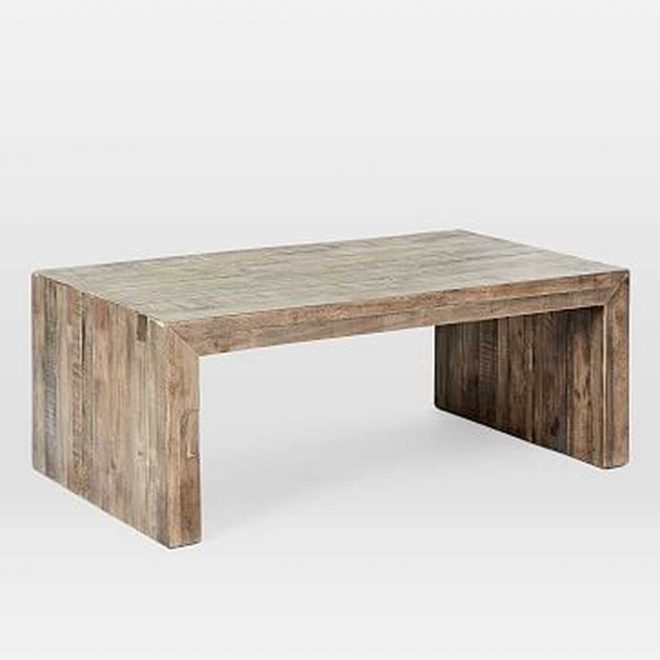 emmerson reclaimed wood coffee table stone gray west elm havenly