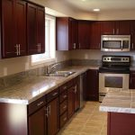 enchanting cherry kitchen cabinets with grey walls 25 cherry