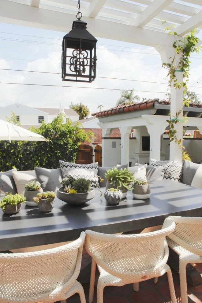 entertainment alfresco at this 1930s spanish style home