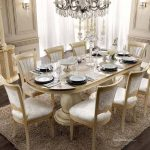 esf aida high gloss ivory gold finish dining room set 7 pcs made in