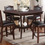 espresso counter height dining table f 2291