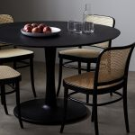 euclid black round dining table 50