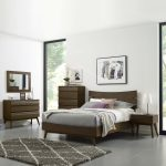everly 5 piece queen bedroom set contemporary modern