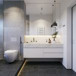 example of a 36 modern grey white bathrooms that relax mind
