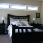 example of transom window in bedroom home remodeling ideas