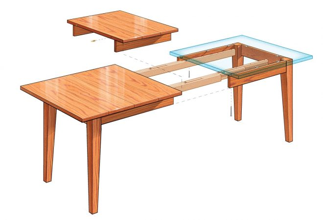 extension dining table finewoodworking