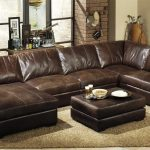 extra deep leather sectional sofa in 2019 sectional sofa