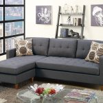 f7094 blue gray sectional sofa poundex