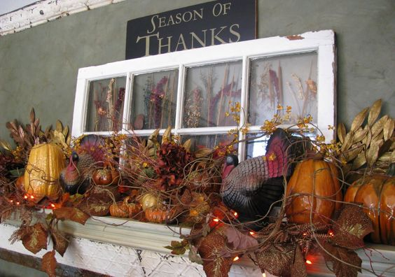 Fall Mantle Decorating Ideas Lures And Lace