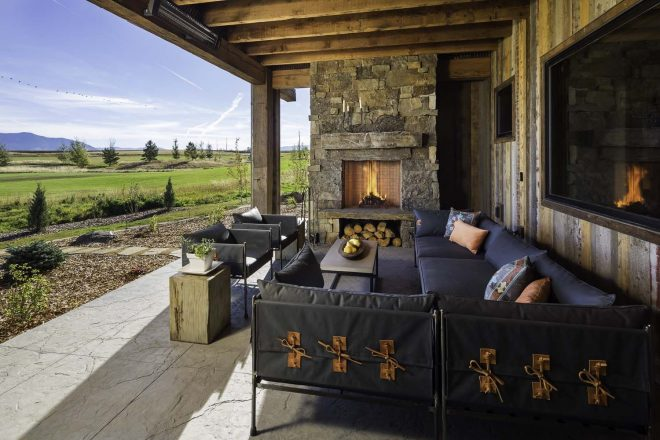 family retreat blends modern rustic with rocky mountain