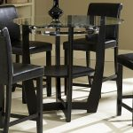 fantastic 36 inch round glass dining table and chairs