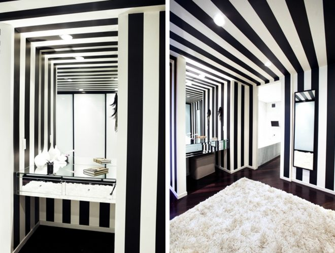 fantastic black and white stripes interiors youll fall in
