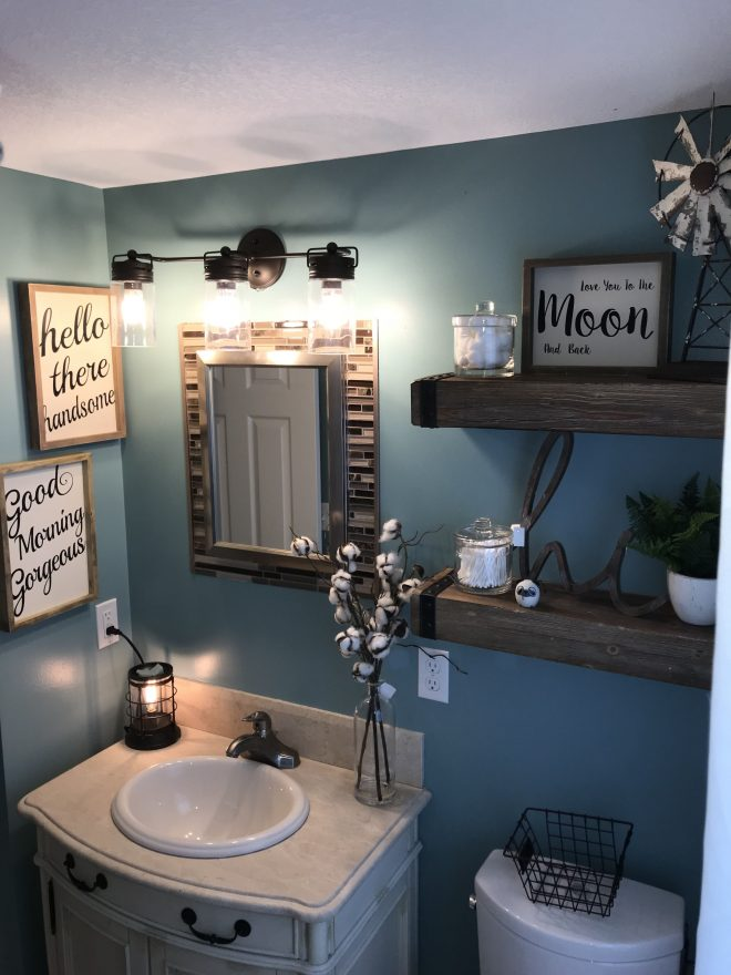 farmhouse bathroom home decorating in 2018 pinterest