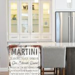farmhouse kitchen sign martini drink recipe kitchen wall decor farmhouse decor fixer upper wall art rustic style sign faux metal large art