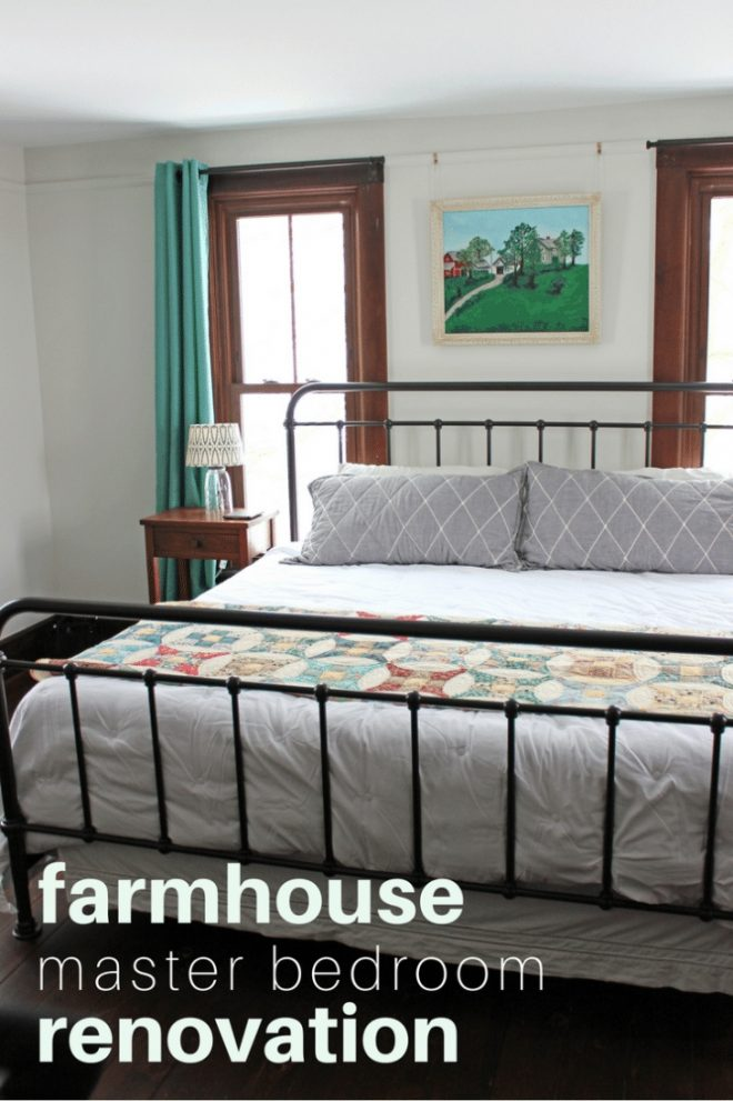 farmhouse master bedroom renovation before after