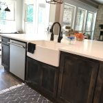 farmhouse sink farmhouse dark cabinets floor rug