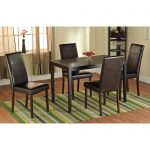 faux leather parson dining chair set of 2